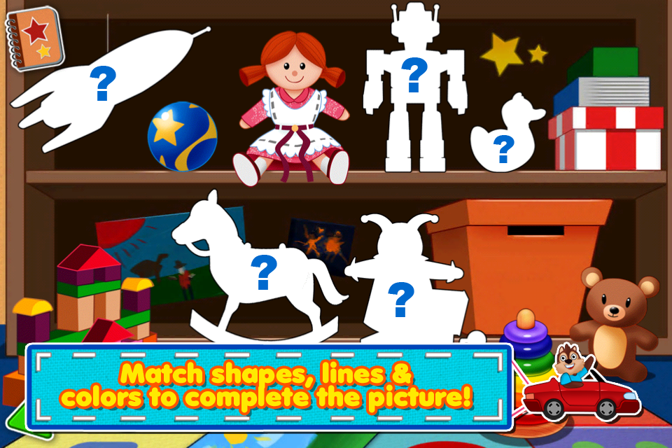 Screenshot Awesome Shape Puzzles 123 – A fun way of learning first words for kids